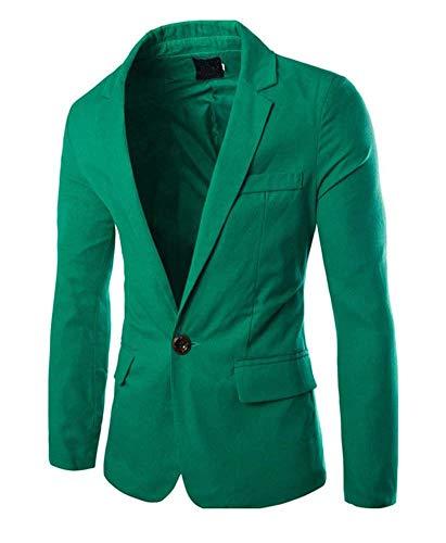Grün Costume Homme Business Blazer Veste Essentiel Slim Fit Loisirs Hommes YqPzAP