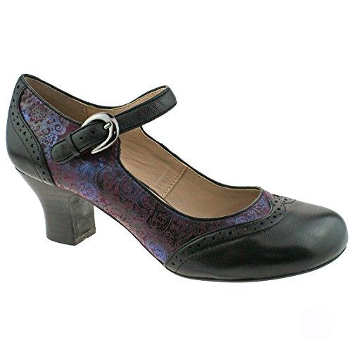 Lotus Laleh - Zapatos de vestir de piel para mujer negro negro