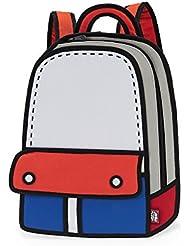 JumpFromPaper Blue Adventure Backpack, Bag for Women, Bag for Men, Laptop, Cartoon, Design, Unique Bag, jump from...
