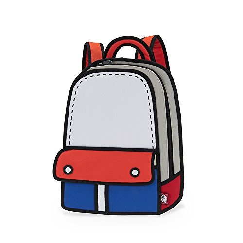 JumpFromPaper Blue Adventure Backpack, Bag for Women, Bag for Men, Laptop, Cartoon, Design, Unique Bag, jump from paper