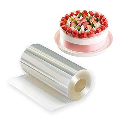 Cake Collar - Cake Decorations Acetate Sheets Roll Cake Strips Transparent Clear Cake Collars - Cake Surrounding Edge Wrapping Tape for Chocolate Mousse DIY Cake Decorating Tools