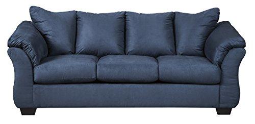 Superb Ashley Furniture Signature Design   Darcy Contemporary Microfiber Sofa    Blue