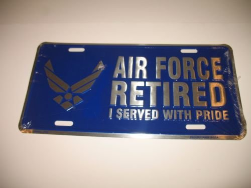 usaf retired license plate frame - 2