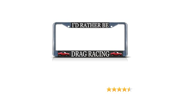 I WOULD RATHER BE DRAG RACING decal Christmas tree bracket  race car trailer