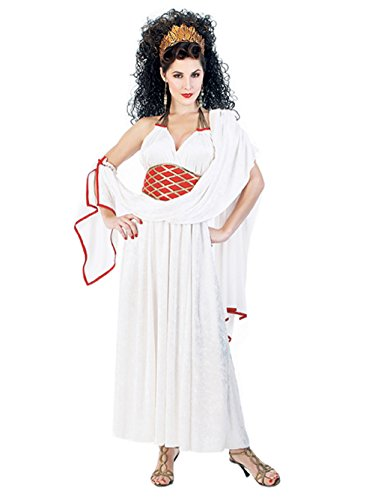 [Womens Sexy Goddess Costume Hera Greek Grecian Roman God Gown Theatre Costume Sizes: Small] (Hera Costumes)