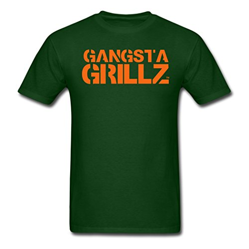 Men's Gangsta Grillz For Personalize T-Shirts Forest green XXL ()
