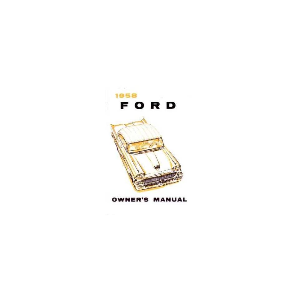 1958 FORD FAIRLANE Owners Manual User Guide