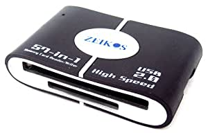 Zeikos 57-in-1 USB 2.0 Flash Memory Card Reader ZE-CR201