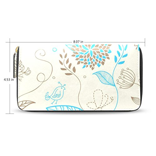Flower Hand Painted Leather Wallet - 8