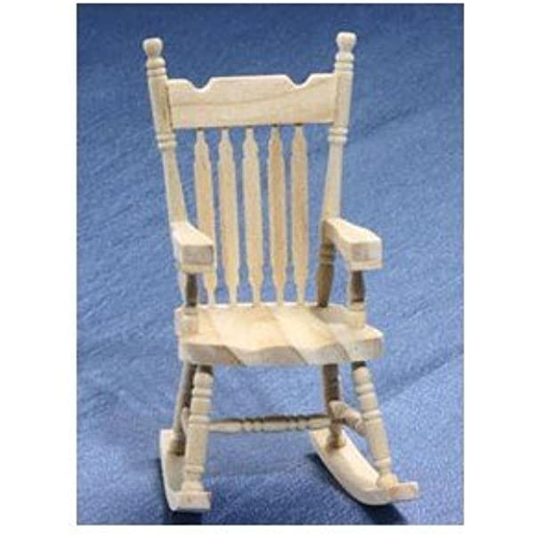 Toy Home Decorations 2 Dollhouse Wooden Chairs Unfinished Wood Rocking Chairs Christmas Dollhouse Miniature Wooden Chairs Model Dollhouse Accessories Tiny Furniture Model Supplies for Doll House