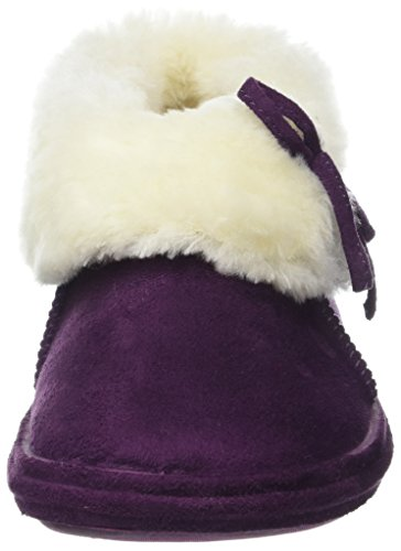 Bootee 3 Sizes Suede Faux Ladies Furry Ankle Womens 8 Slippers Lilac Slipper x1IzqF