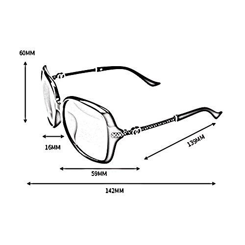 de Gafas de Gafas mujer con B 100 grande para Color sol sol SSSX para conducir UV400 Gafas Gafas montura de A protectoras de sol polarizadas sol n7TqRU