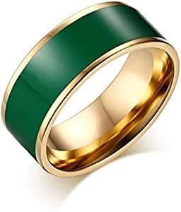 Ring for Unisex, Green, Size 8, RS017