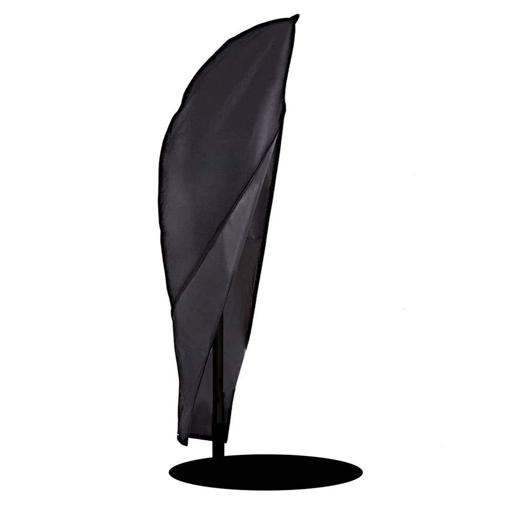 Outdoor Umbrella Covers, Black Patio Parasol Cantilever Offset Umbrella Protective Cover, Durable Waterproof Dustproof (Size : 265x100cm/104''x39'')