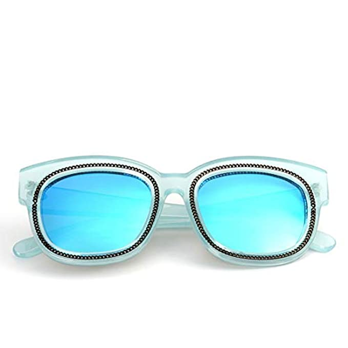 Lindanig Con blue Frame Lens Occhiali Blue Per In Montatura Sole E Vintage color Plastica Da