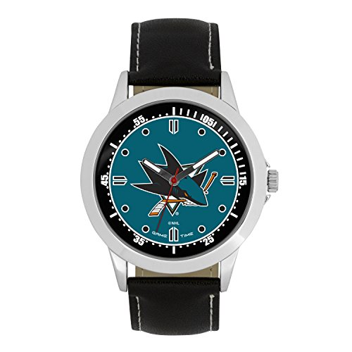 NHL San Jose Sharks Mens Player Series Wrist Watch, Silver, One Size