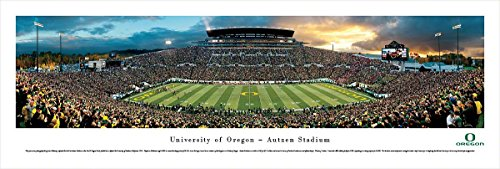 Football Panoramic Print (Oregon Football - Blakeway Panoramas Unframed College Sports Posters)