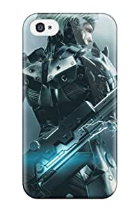 Tpu Fashionable Design Metal Gear Rugged Case Cover For Iphone 4/4s New