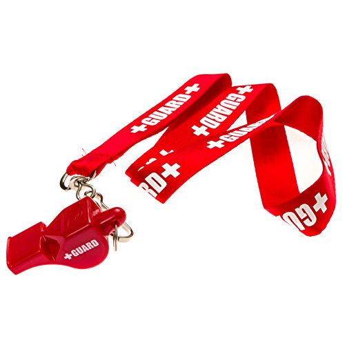 BLARIX Guard Whistle and Lanyard with Print (Red and - Whistle Waterproof Pealess