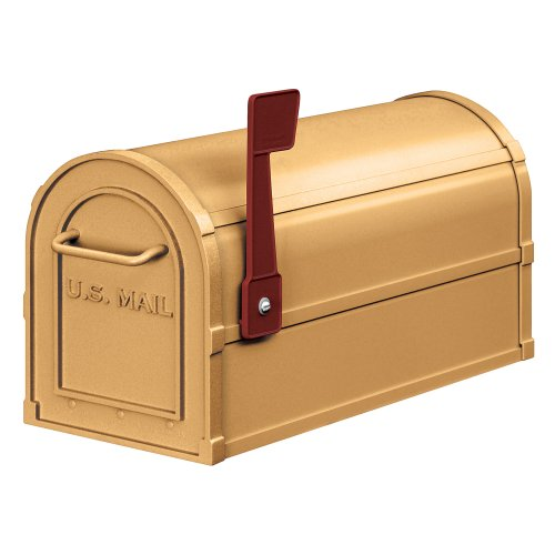 Rural Mailbox, Antique, Brass (Antique Brass Mailbox)