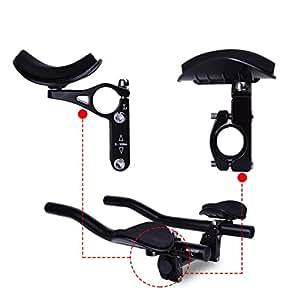 Hotusi Bicycle TT Handlebar Aero Bars Triathlon Time Trial Tri Cycling Bike Rest Handlebar for Bicycle Aerobars Mountain Bike or Road Bike