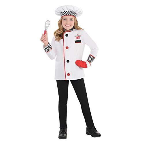 Amscan 848306 Chef Kit Child Small (4-6) Costume Outfits, White Spoon Costume Set