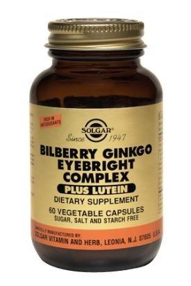 Solgar - Bilberry Ginkgo Eyebright+Lutein - 60 capsules