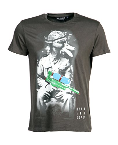 Duck and Cover Herren T-Shirt mit Print Coal
