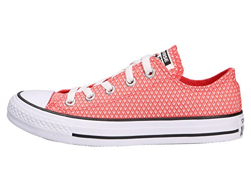 Converse Womens CT AS Ox Snake Woven Woven Trainers Rojo