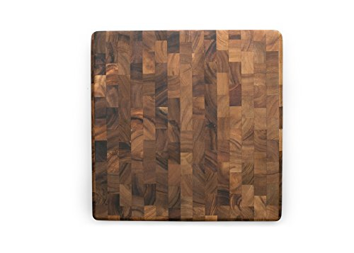 (Ironwood Gourmet 28218 Square Charleston End Grain Chef's Board , Acacia)