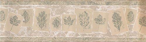 Norwall FX70717A Wallpaper Border Leaf imprint