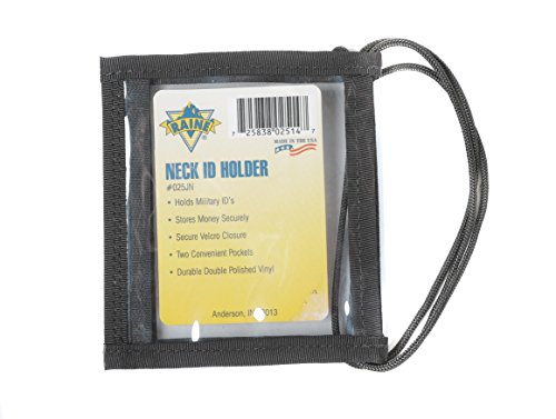 Raine Military Neck ID Holder, Black