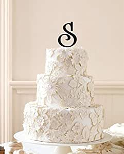 m s wedding cake toppers initial cake topper wedding cake topper custom 17647