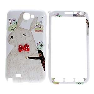 Conejo de dibujos animados patrón Front y Back Case Cuerpo Completo para Samsung Galaxy Note N7100 2