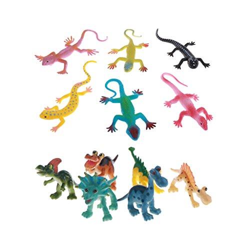 Perfk 全12個 恐竜おもちゃ 科学自然 小さな 装飾品 子供向け アクションフィギュアの商品画像