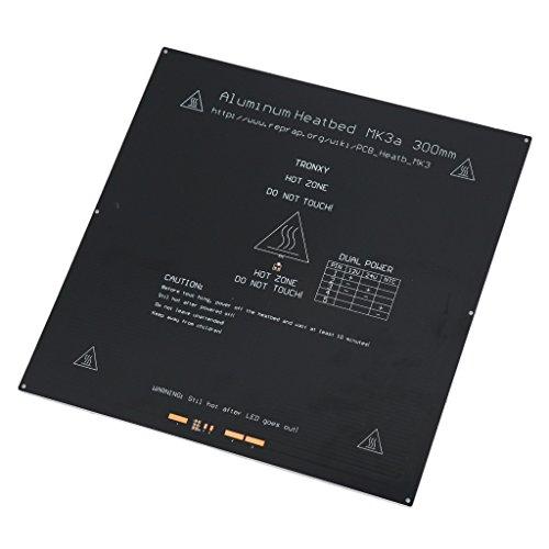 MonkeyJack 3D Printer PCB Aluminium Heated Bed Plate MK3/MK2A 12V 24V Heat Bed 300X300mm
