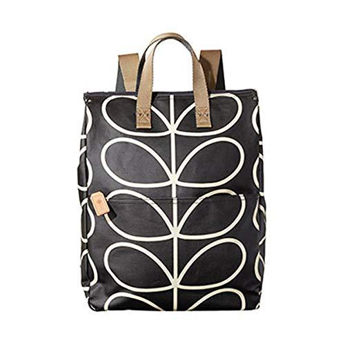 ORLA KIELY Black Giant Linear Stem Large Backpack