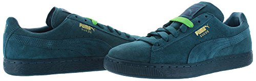 PUMA Mens Suede Classic Iced Sneaker Blue Coral / Team Gold QYhnUSaRd