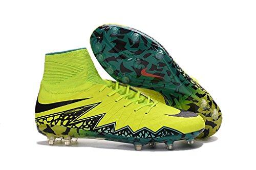 Herren HYPERVENOM PHANTOM II FG mit ACC Gelb High Top Fußball Schuhe Fußball Stiefel