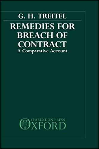 Amazon.Com: Remedies For Breach Of Contract: A Comparative Account
