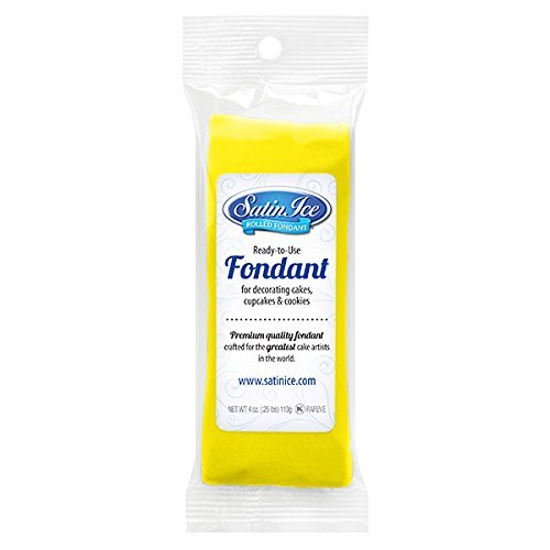 Satin Ice Rolled Fondant Icing Yellow 4 Ounces (Rolled Fondant)
