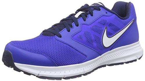 Nike Herren Downshifter 6 Laufschuhe Blau (Blau/Weiß)