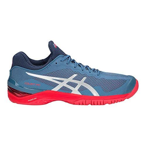 Ff Blue Court Asics Unisexe Azure Chaussures adult silver OtPqAxwCq
