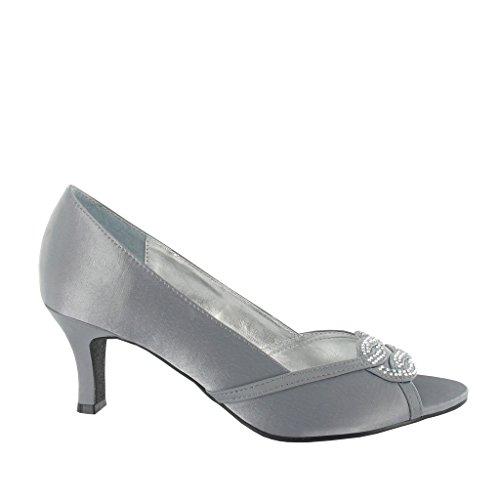 Gris mujer gris tacón con Zapatos LEXUS qAwZxCPI