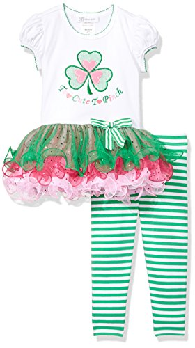 Bonnie Jean Toddler Girls' Appliqued Tutu Playwear Set, Too Cute To Pinch, 2T