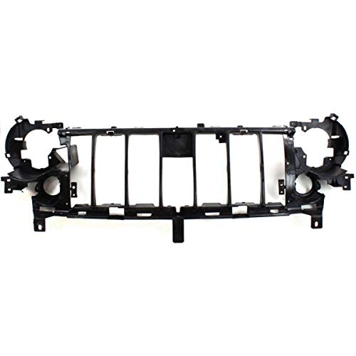 Header Panel For 2005-2007 Jeep Liberty w/Fog Light Holes Grille Reinf. Plastic