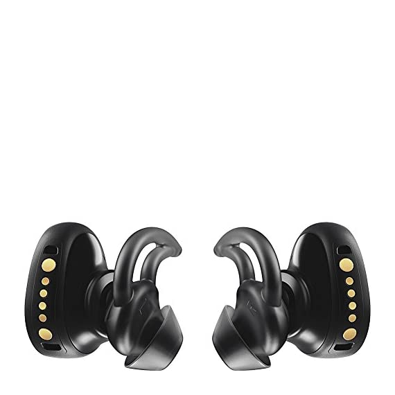 Bose SoundSport Free, True Wireless Earbuds, (Sweatproof Bluetooth Headphones for Workouts and Sports), Black 7 Completely wireless Strong, reliable Bluetooth connection Stable, comfortable and lightweight