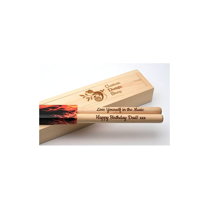 Personalized drum sticks 5A, maple wood,