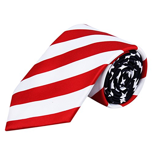 American Flag Necktie for Men, Dark Navy-80mm