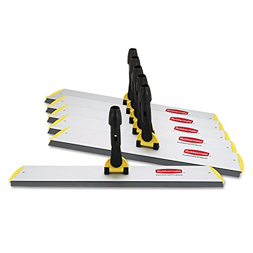 N Quick Connect S-S Frame, Squeegee, 24w x 4 1/2d, Aluminum, Yellow (Quick Connect Squeegee Frame)